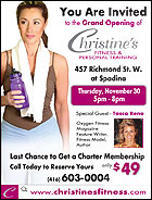 Christine's Fitness and Personal Training Grand Opening