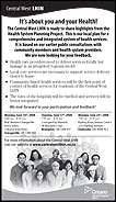 Central West Local Health Integration Network Ad