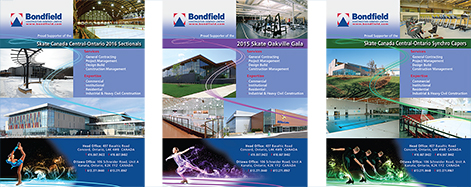 Bondfield Ads for Skate Oakville 2015 – Series of 3 Events
