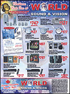World Sound and Vision Newspaper Advertisement