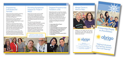 Abrigo Centre Generic Brochure - English and Portuguese