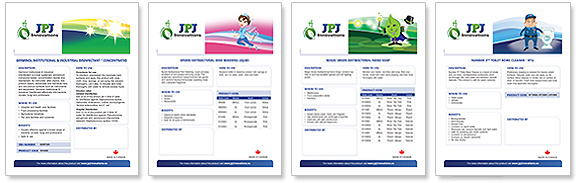 JPJ Innvations Product Sell Sheets