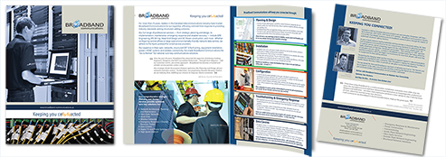 Broadband Communications 4-page Corporate Brochure