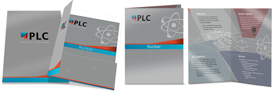 PLC Fire Folder and Brochure Nuclear Industry