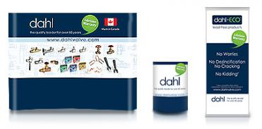 dahl Brothers Canada Limited Booth, Podium and Banner