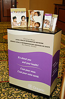 Central West Local Health Integration Network podium