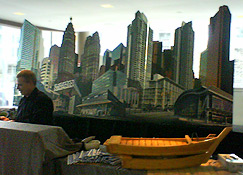 Cityscape Display behind Sushi Bar at Four Seasons Centre for PCL Client Event