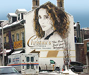 Christine's Fitness Hand Painted Mural, Yonge and Davenport