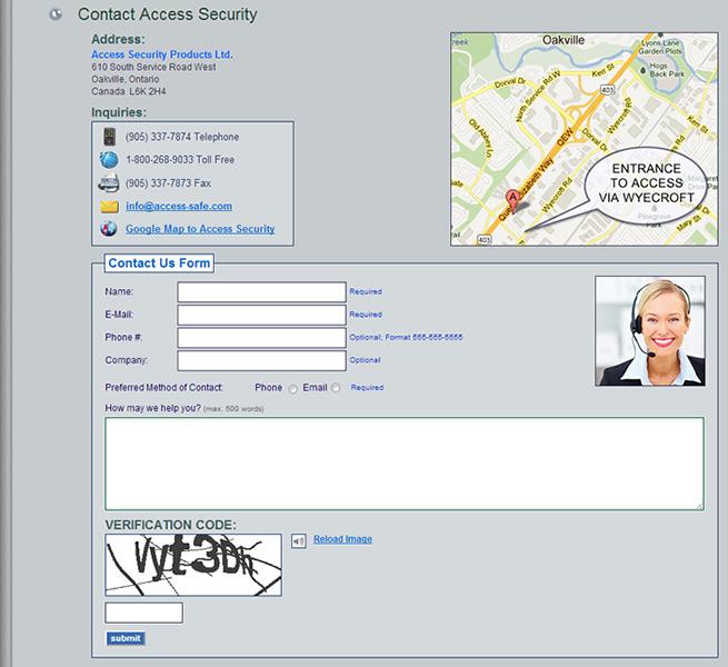 Contact Us: Oakville Mississauga Milton Vaughan GTA Web Design