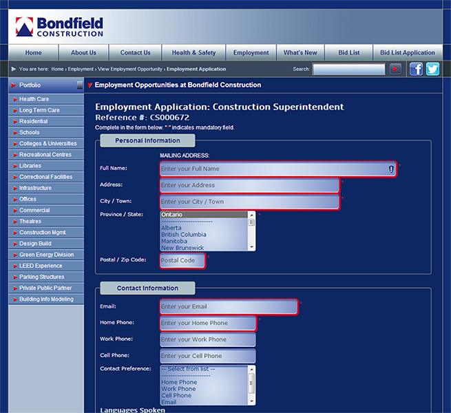 employment-form Job Application Form Using Php on free generic, blank generic, part time,