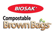 BIOSAK Compostable Brown Bags