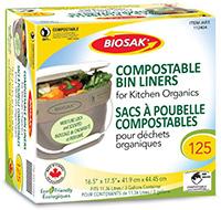 BIOSAK Compostable Bags for Kitchen Bins