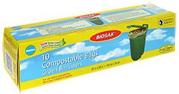 Ralston BIOSAK Compostable Bags Green Bin Liners