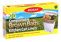 Ralston BIOSAK Compostable Brown Bags Kitchen Can Liners