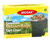 Ralston BIOSAK Compostable Brown Bags Cart Liners