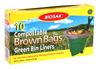 Ralston BIOSAK Compostable Brown Bags Green Bin Liners