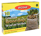Ralston BIOSAK Compostable Brown Bags for Leaf and Yard Waste