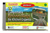 Ralston BIOSAK Compostable Brown Bags Kitchen Sample Pouch