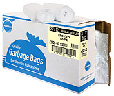 Ralston Industrial Black Garbage Bags with dispenser