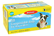 BIOSAK Compostable Bags for Dog Walkers