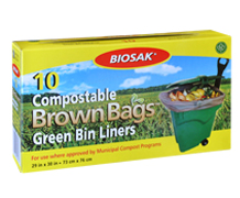 Biosak Compostable Green Bin LinersProduct and package photography