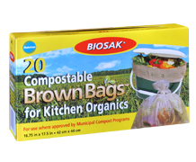Biosak Compostable Bags for Kitchen OrganicsProduct and package photography