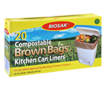 Biosak Compostable Kitchen Liners Product and package photography
