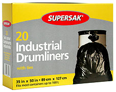 Supersak Industrial Garbage Bags