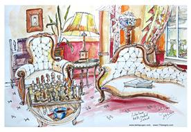 Stella Jurgen Sketch: Aulber House, Cashel, Ireland