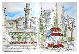 Stella Jurgen Sketch: Cabra Castle, Kingscourt, Ireland