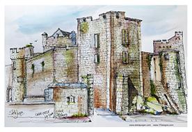 Stella Jurgen Sketch: Cahir Castle, Ireland