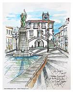 Stella Jurgen Sketch: Camara Municipal, Ponta Delgada, Azores, Portugal