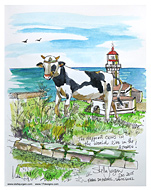 Stella Jurgen Sketch: Farol do Amel, Sao Miguel, Azores, Portugal