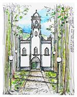 Stella Jurgen Sketch: Igreja Sao Nicolau Cidades, Azores, Portugal