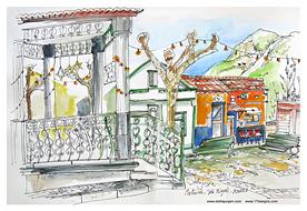 Stella Jurgen Sketch: Mosteiros, Sao Miguel, Azores, Portugal