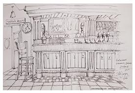Stella Jurgen Sketch: Powerhouse Bar, Oranmore, Galway, Ireland