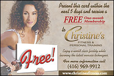 Christine's Fitness Postcard