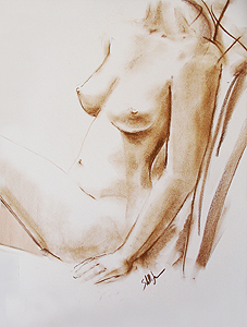 Stella Jurgen - Figure Sketch in Chalk - Suzie 2
