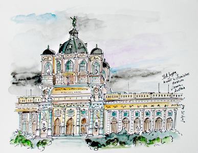 Stella Jurgen - Urban Sketch - Kunst Historisches Museum, Vienna, Austria