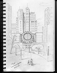Stella Jurgen - Urban Sketch San Francisco - Yerba Buena Gardens