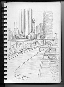 Stella Jurgen - Urban Sketch Chicago - Millennium Park