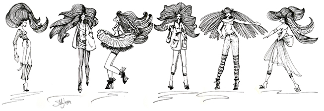 Fashion Sketches by Stella Jurgen