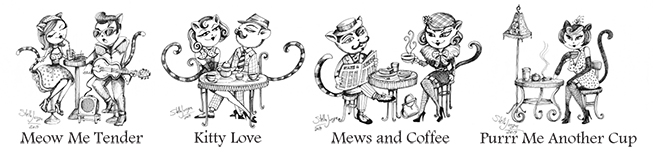 The Cat's Meow Coffee Shop Illustration (Elora, ON)