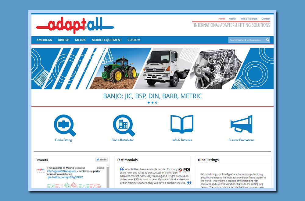 Adapters, Fitting, Website Development, MySQL, PHP Website