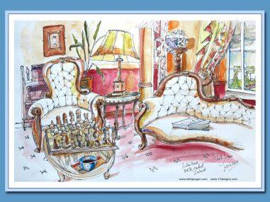 Stella Jurgen Sketch Aulber House, Cashel, Ireland