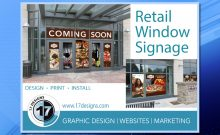 retail window signage