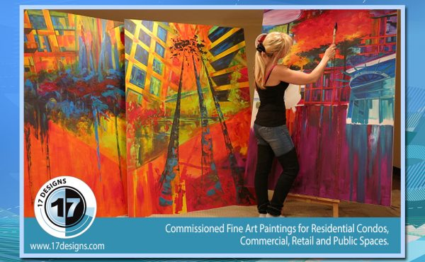 public art, paintings, custom painting orders, condominium decor, commissioned fine art