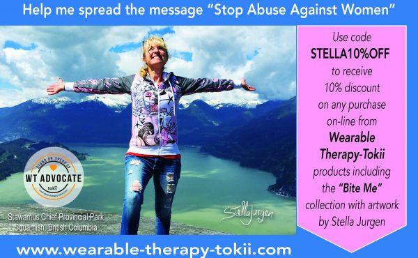 Stop Abuse Against Women, Stella Jurgen, Squamish, BC