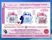 limited edition purses, artistic purses, conquer cancer, Stella Jurgen's purses