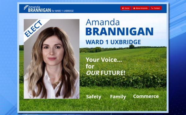 Ward 1Uxbridge, WordPress Website, Amanda Brannigan